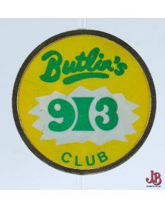 Vintage Butlins 913 Club Badge  1970's