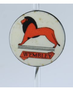 Vintage Celluloid and tin British Empire Exhibition Wembley Lion Pin Badge 1924